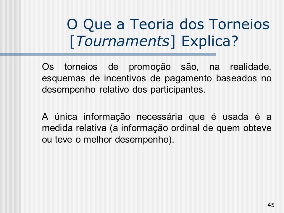 O Que a Teoria dos Torneios [Tournaments] Explica
